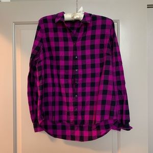 The Limited Plaid Button Down